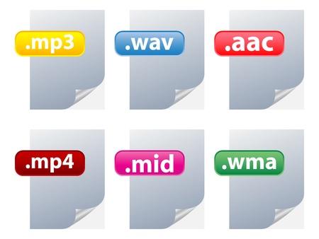 wav: audio files Illustration
