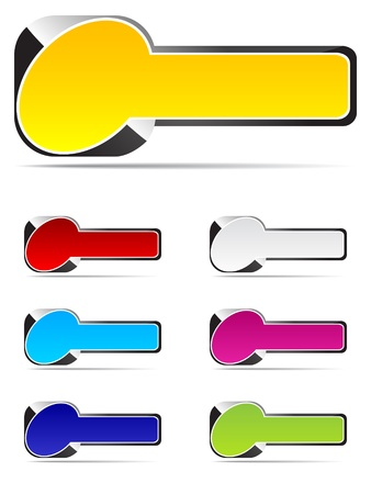 Colorful rectangle buttons Stock Vector - 10496843
