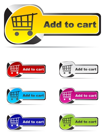 the novelty: add to cart buttons Illustration