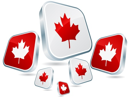 discussion forum:  canadian flag poster Illustration