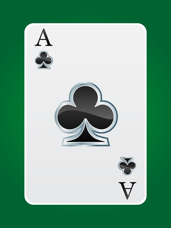ace of club: games card ace Illustration