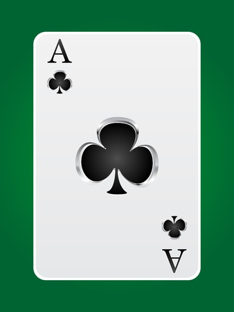 ace of clubs: games card ace Illustration