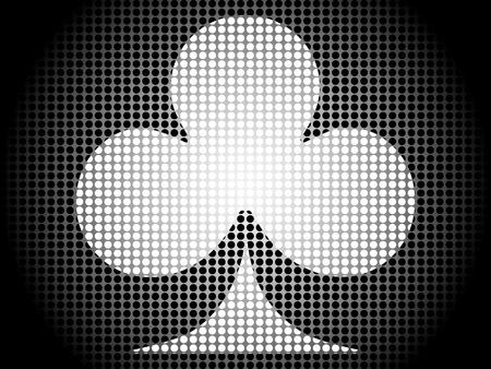 poker banner-clover Vector