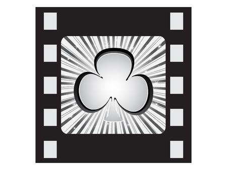 poker icon-clover Stock Vector - 10496741
