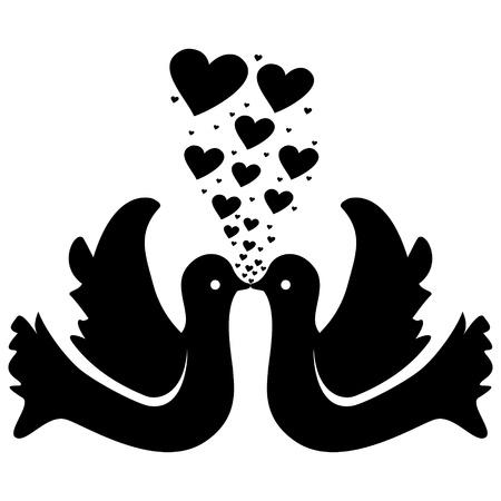 doves in love Stock Vector - 10496386