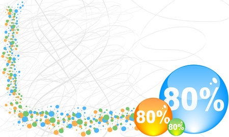 eighty percent discount background Vector