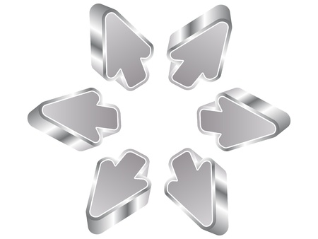 reverse: 3d silver arrows