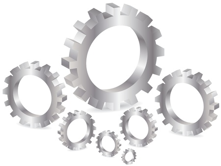 alloy wheel: gear background Illustration