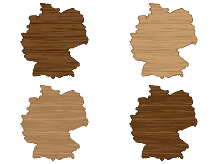 perimeter: Germany wooden map
