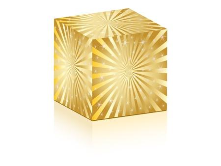 deflated: nice cube with shiny sunbeam on it Illustration