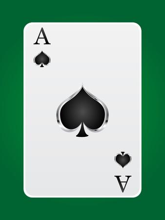 texas hold em: Juegos de la tarjeta ace Vectores