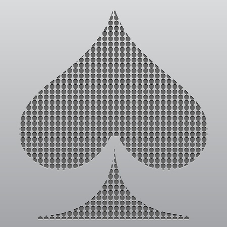 poker element - heart Vector