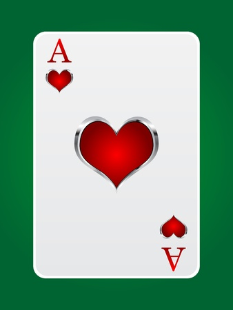 ace hearts: games card ace Illustration