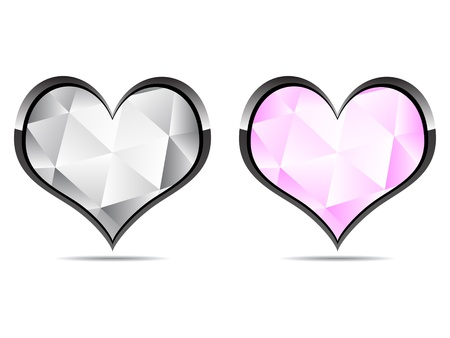 diamond hearts  Stock Vector - 10496662