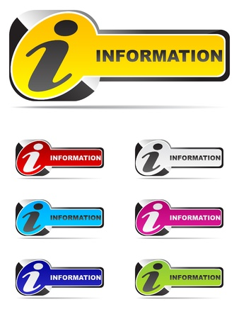 information buttons different colors Stock Vector - 10496887