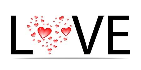 liefde woord design Vector Illustratie