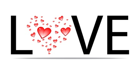 sentiment: love word design