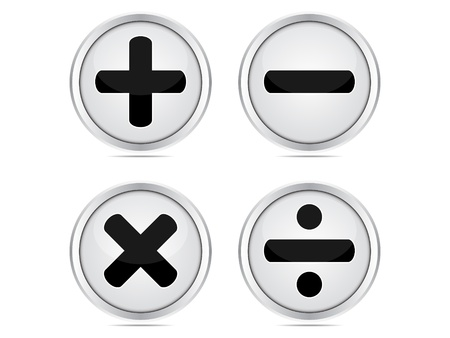 plus minus:  mathematics buttons