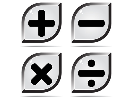mathematics buttons Vector