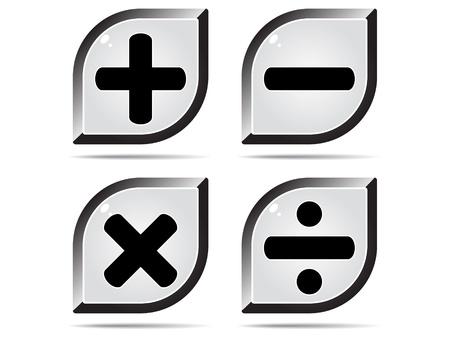 mathematics buttons Stock Vector - 10496679