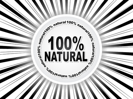 100% natural web buttons Stock Vector - 10496849