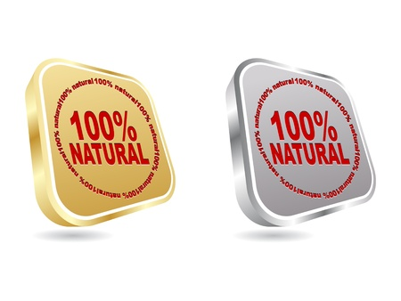100% natural web buttons Stock Vector - 10497216