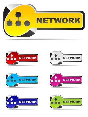 network web buttons different colors Stock Vector - 10496883