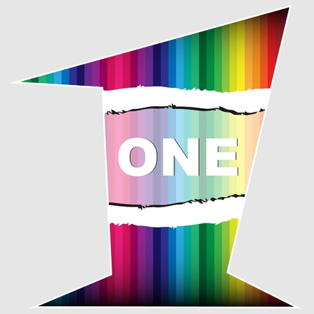 Number one colorful texture  Stock Vector - 10497008