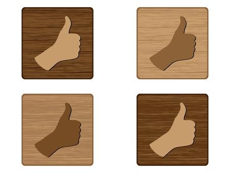 Human hand giving ok  Vector