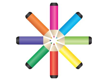 poet: colorful pencils