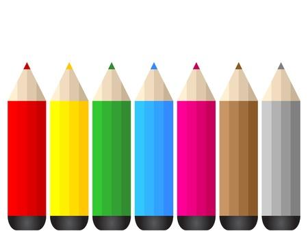 colorful pencils Stock Vector - 10496548