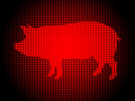 abstract background with pig in front Stock Vector - 10497095