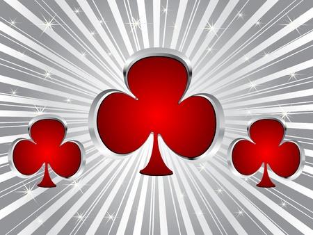 poker background- clover Vector