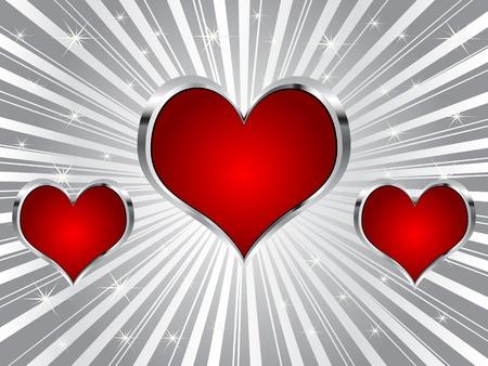 poker background - heart Stock Vector - 10496816