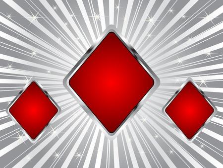 poker background - rhombus Vector