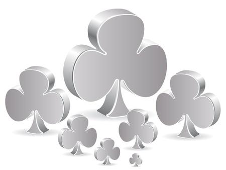 poker element - clover Stock Vector - 10497096