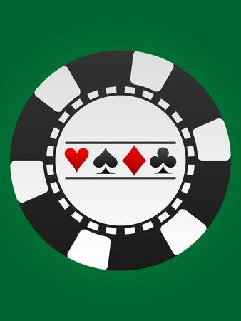 poker chip Stock Vector - 10496551