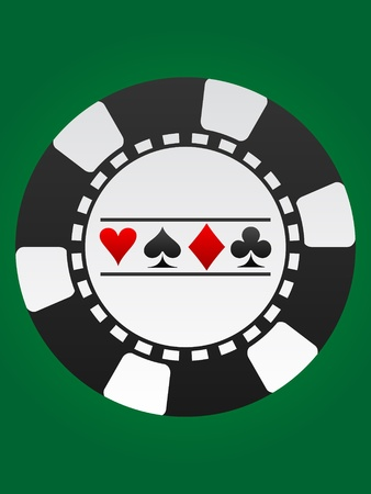 roulette game: poker chip