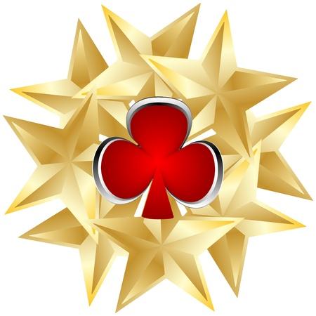 clover buttons: poker element - clover