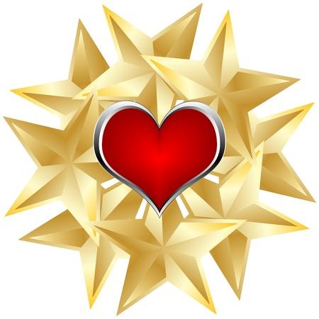 poker element - heart Stock Vector - 10496467