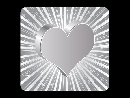 silver poker element - heart Stock Vector - 10496822