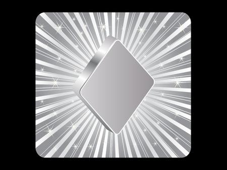 silver poker element - rhombus Stock Vector - 10496811