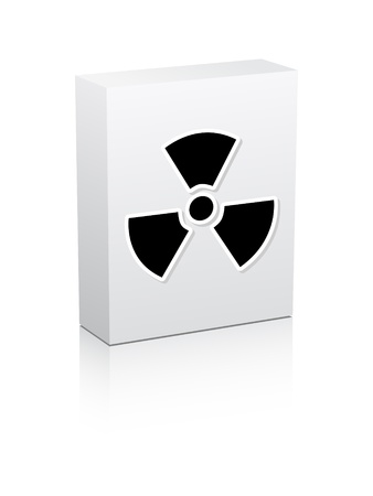 radiation icon on box Stock Vector - 10496513