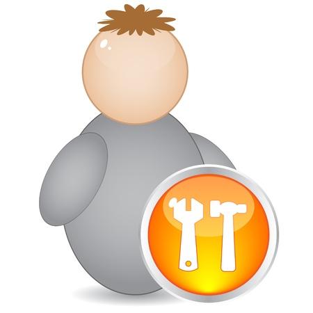 service button Stock Vector - 10496461