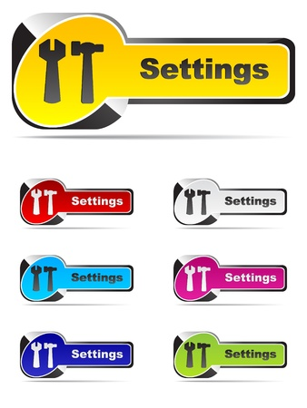 setting buttons Stock Vector - 10497005