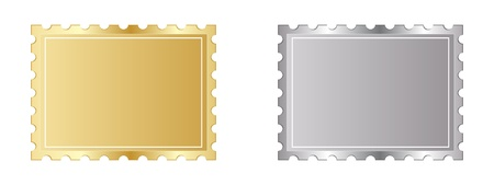 golden and silver stamp