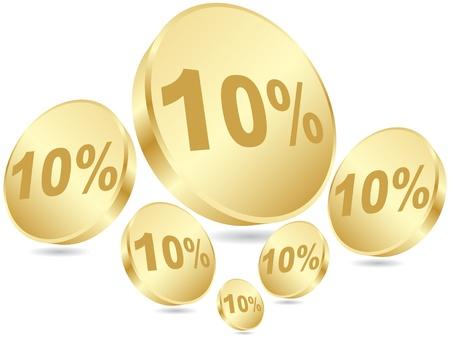 ten percent discount Vector