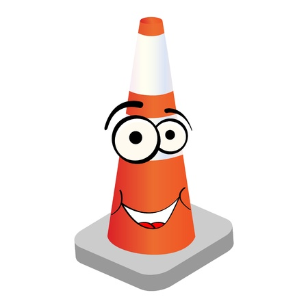 road work: traffic cone