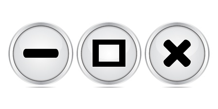 web buttons Stock Vector - 10496403