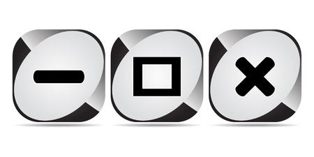 web buttons Stock Vector - 10496400